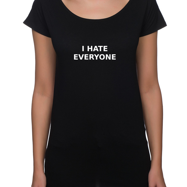 I hate everyone / halloween / t-shirt oversize